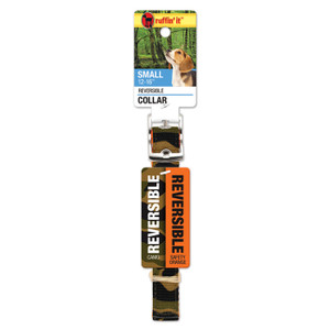 CAMO/ORNGE REVRSE DOG COLLAR S