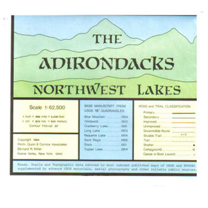 ADIRONDACK MAP NORTHWEST LAKES