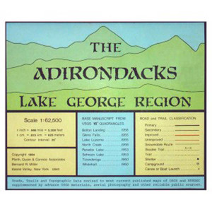 ADIRONDACK MAP LAKE GEORGE