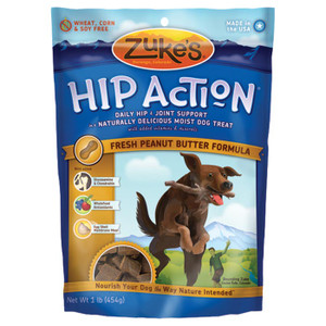 HIP ACTION P.BUTTER TREAT 16OZ