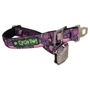 BOTTLE OPEN DOG COLLAR PUR LG