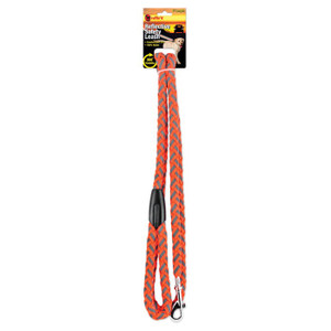 BRAIDED REFLECT DOG LEASH ORNG