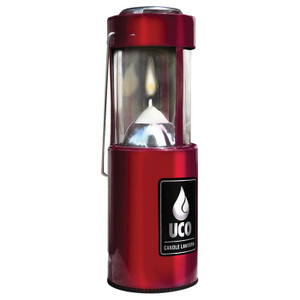 CANDLE LANTERN-ANOD RED