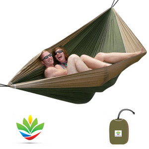 HAMMOCK BLISS DOUBLE TAN/GREEN