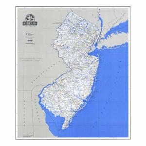 STREAM MAP OF NJ LAMINATED