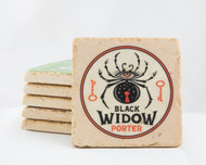 Black Widow Porter Marble Coaster