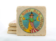 Ruby Ale Marble Coaster