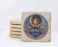Terminator Stout Marble Coaster