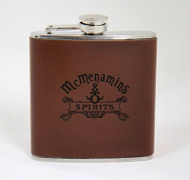 McMenamins Spirits Leather Flask