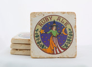 Ruby Ale Classic Logo Marble Coaster