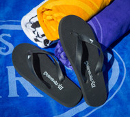 Black Rabbit Flip Flops