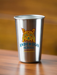 Anderson School Bobcat Stainless Pint Glass