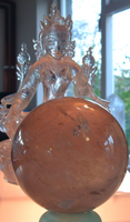 Smokey Quartz Sphere reduced  (7959)