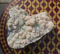Apophyllite with Heulandite heart shaped cluster (1380101082)