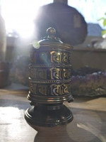 Desktop copper Prayer Wheel (1455543914)