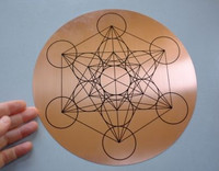 Copper Metatrons Cube disc (1453973573)