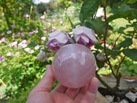 Star Rose quartz sphere (1466501021)