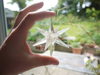Clear quartz star (111736)