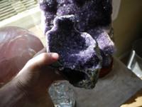 Amethyst geode from Uraguay AA grade (112311)