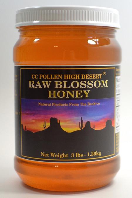 Raw Blossom Honey 3 lb Jar