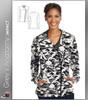 Grey's Anatomy™ iMPACT Women's Asymmetric Zip Camo Print Scrub Jacket
