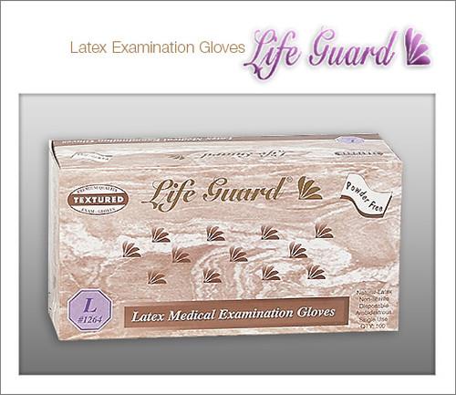 LIFE GUARD Examination Latex Gloves - Chlorinated - 100 Gloves / Box