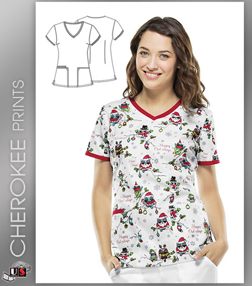 Cherokee Printed Owl About Christmas Modern Classic Fit