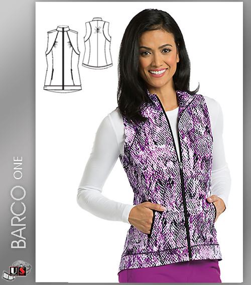 Barco One Cobra Print Scrub Vest