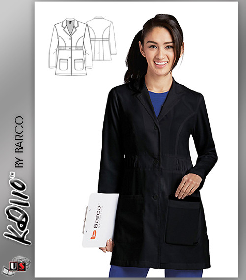 "KD110™ Kenzie 32"" Lab Coat Black"