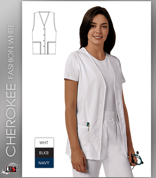 Cherokee Fashion Solids Button Front Vest