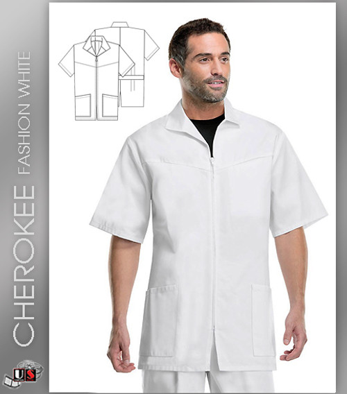 Cherokee Med Man Men's Zip Front Jacket
