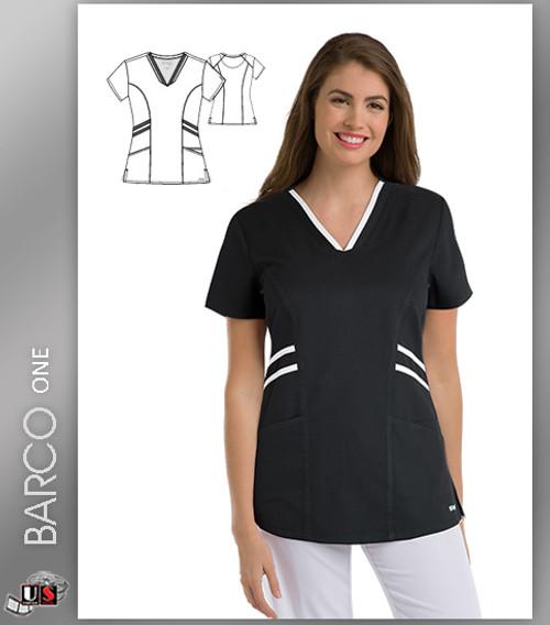Grey's Anatomy Active Wear 3 Pockets V-Neck Knit Binding - BLW