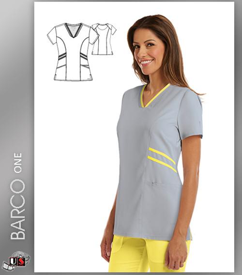 Grey's Anatomy Active Wear 3 Pockets V-Neck Knit Binding - MSU