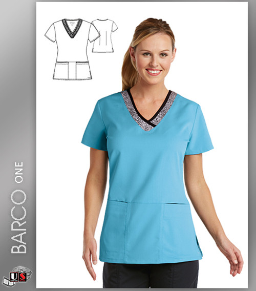 Grey's Anatomy Active Wear 3 Pockets Marquis Style Scrub Top - CSK