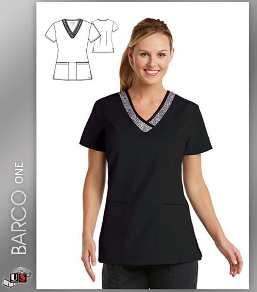 Grey's Anatomy Active Wear 3 Pockets Marquis Style Scrub Top - SPB
