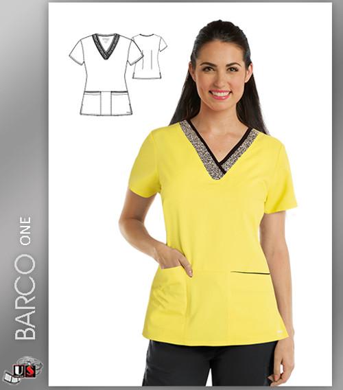 Grey's Anatomy Active Wear 3 Pockets Marquis Style Scrub Top - SSK