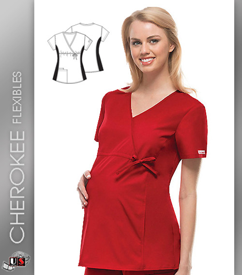 Cherokee Flexibles Maternity Wrap Top