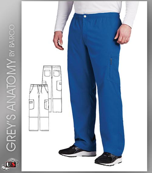 Grey's Anatomy Active Men's Zip Fly Cargo Scrub Pant