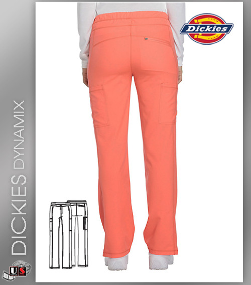 Dickies Dynamix Womens Mid Rise Straight Leg Drawstring Pant