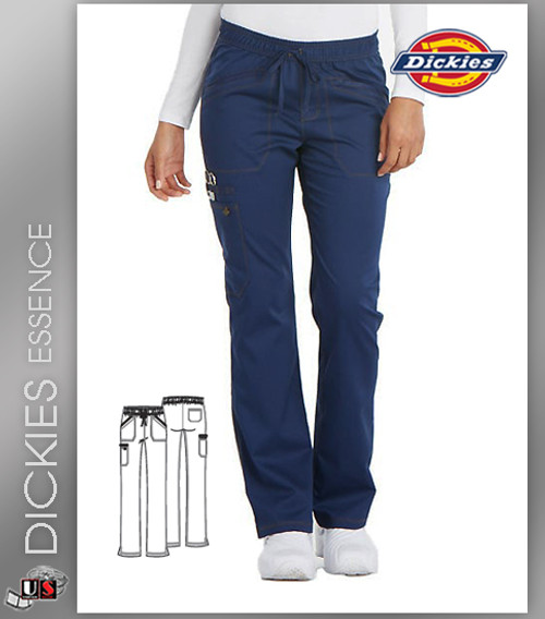 Dickies Essence Mid Rise Straight Leg Drawstring Pant