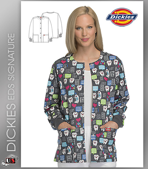 Dickies EDS Have A Laugh Prints Snap Front Warm-Up Jacket