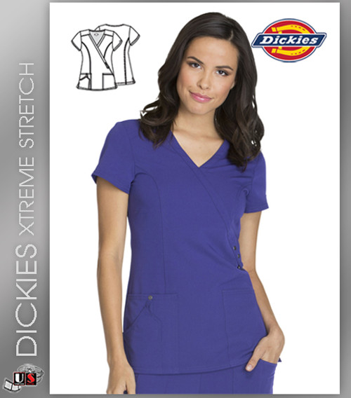 Dickies Xtreme Stretch Mock Wrap Top