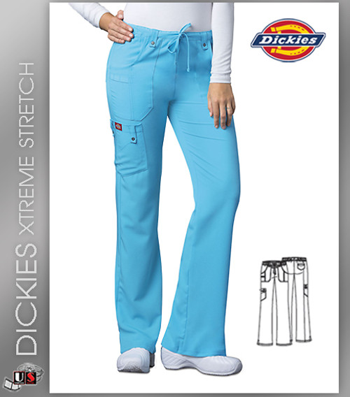 Dickies Xtreme Stretch Mid Rise Drawstring Cargo Pant