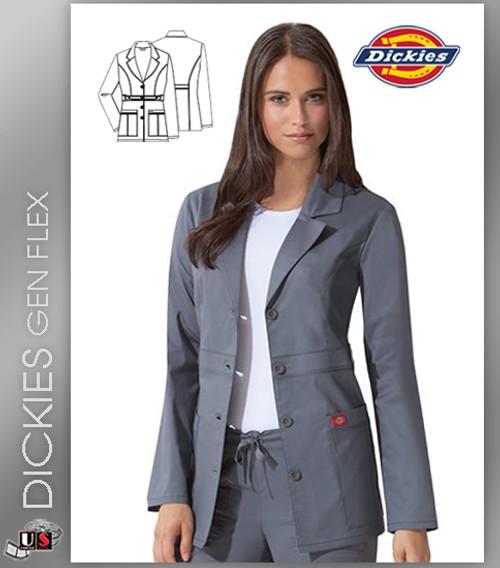 """Dickies Gen Flex Dickies Scrubs 28"""" Lab Coat"""