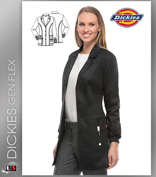 """Dickies Gen Flex Scrubs 32"""" Lab Coat"""