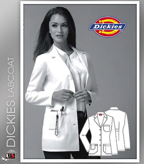 "Dickies 30"" Women's Junior Fit Notch Collar Lab Coats"