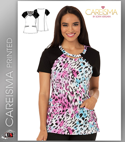 Careisma Printed La Vida Leopard Women's Round Neck Top