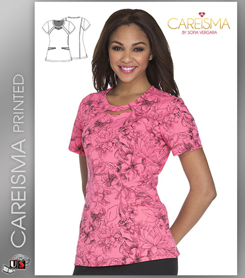 Careisma Printed Flower Fiesta Women's Round Top