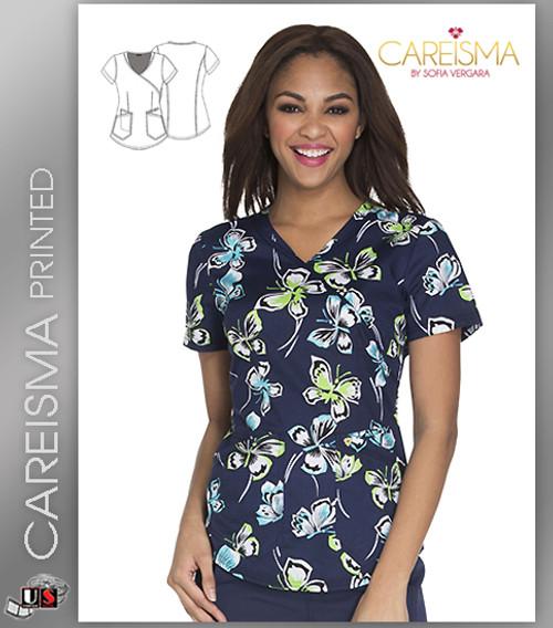 Careisma Printed Set Me Free Women's Mock Wrap Top