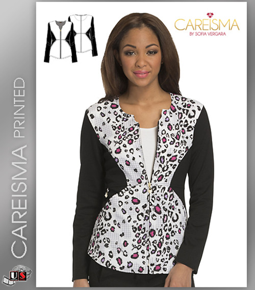 Careisma Printed Wild About Houndstooth Women's Notched Crew Jacket